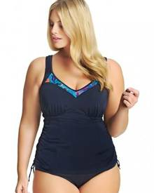 Brava Woman Elomi Abstract Moulded Cup Adjustable Side Tankini