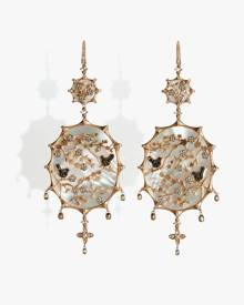 Annoushka Dream Catcher 18ct Rose Gold 4.29 ct Diamond Earrings