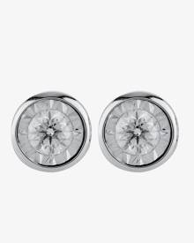 TJH Collection 9ct White Gold Illusion Set 0.16ct Diamond Stud Earrings E5264D-9W-016G-A