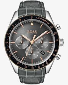 Hugo Boss Mens Trophy Anthracite Grey Chronograph Watch 1513628