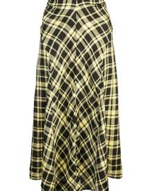 Proenza Schouler Ruched Plaid Skirt