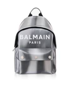 Balmain Designer Men's Bags, B-Back Led Metallic Silver Backpack