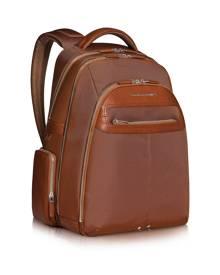 Piquadro Designer Backpacks, Link - Multi-pocket Laptop Backpack