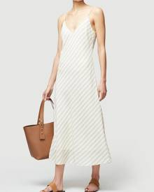 frame-denim Bias Cami Dress Off White Multi Size XL