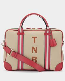 Anya Hindmarch Canvas Bespoke Walton Briefcase in Red - One Size