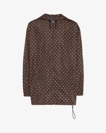 Gucci GG logo print hooded windbreaker jacket