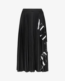 Valentino Pleated logo midi skirt