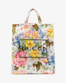 Gucci multicoloured floral print logo tote bag