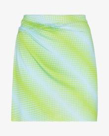 Maisie Wilen Printed ruched mini skirt