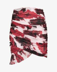 Alexandre Vauthier Floral print ruched skirt
