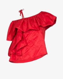 Marques'Almeida Ruffled one shoulder top