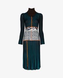 Duran Lantink Striped patchwork knit dress