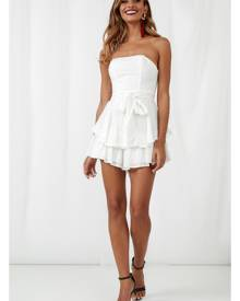 Hello Molly Know A Secret Romper White