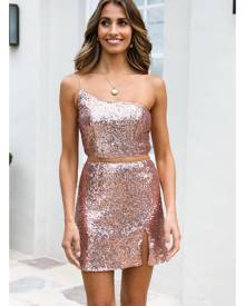 HelloMolly Think You Better Dance Now Skirt Bronze