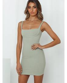 Hello Molly Kiwi Coladas Dress Sage