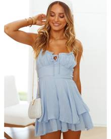 Hello Molly Moonlight Kiss Romper Blue