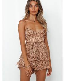 Hello Molly Made Of Liquid Gold Romper Mocha