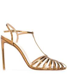 Francesco Russo pointed strappy pumps - Gold