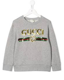 Gucci Kids logo embellished sweatshirt - Grey