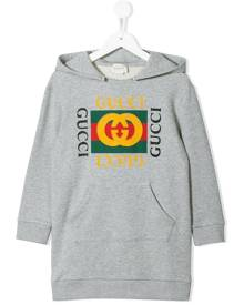 Gucci Kids logo print sweatshirt dress - Grey