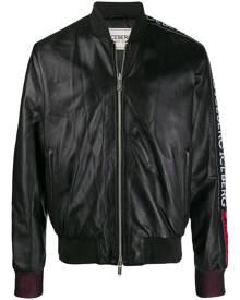 Iceberg embroidered logo bomber jacket - Black