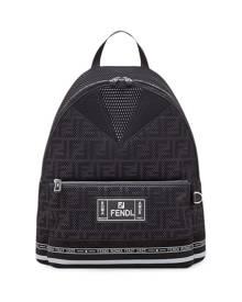 Fendi large FF motif backpack - Black
