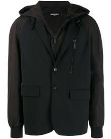 Dsquared2 layered hooded jacket - Black