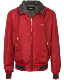 Dolce & Gabbana hooded bomber jacket - Red