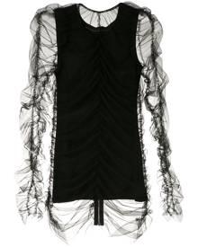 Gloria Coelho draped tulle blouse - Black