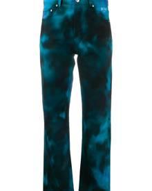 MSGM cropped tie dye jeans - Blue