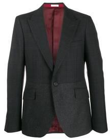 Alexander McQueen Hybrid check tweed blazer - Grey