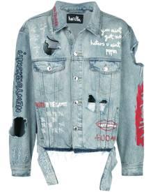 Haculla distressed denim jacket - Blue