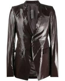 Rick Owens shimmer tailored blazer - Brown