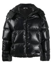 Valentino zip-up hooded jacket - Black