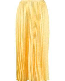 Andamane pleated midi skirt - Yellow