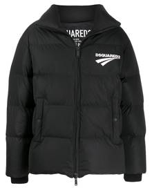 Dsquared2 logo-print padded jacket - Black