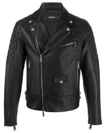 Dsquared2 quilted detailed biker jacket - Black