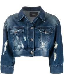 John Richmond cropped denim jacket - Blue