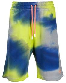 Marcelo Burlon County of Milan tie-dye logo track shorts - Green