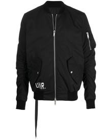 UNRAVEL PROJECT logo-print bomber jacket - Black