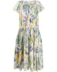 La Doublej botanical print dress - White