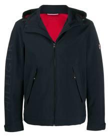 Tommy Hilfiger logo-print hooded jacket - Blue