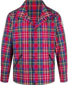 Moncler tartan-print windbreaker jacket - Red