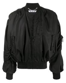 Off-White Pascal-print bomber jacket - Black