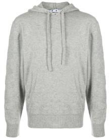 Off-White diagonal stripe cashmere hoodie - Grey