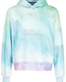 AMIRI watercolour print hoodie - Blue