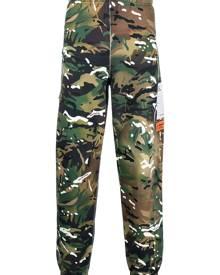 Heron Preston camouflage-print track trousers - Green