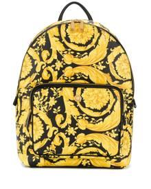 Versace Barocco-print backpack - Yellow