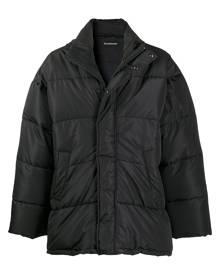 Balenciaga C-shape puffer jacket - Black