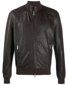S.W.O.R.D 6.6.44 band collar bomber jacket - Brown